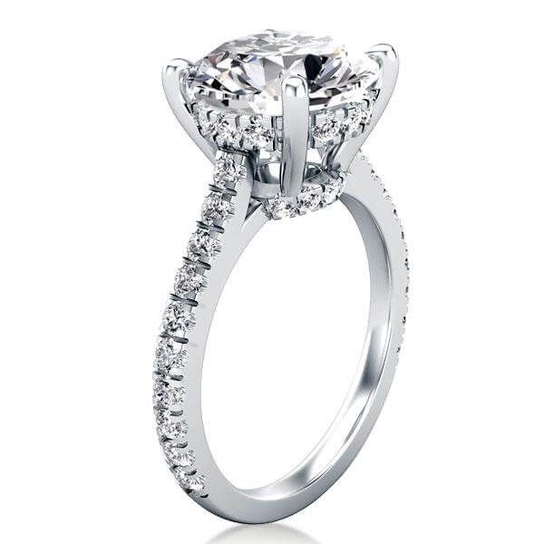 Buy Engagement Ring On Italo Classic Half Eternity Created White Sapphire Engagement Ring